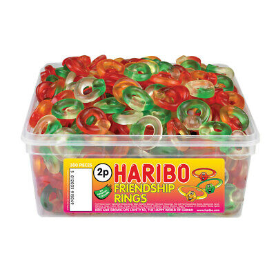 Haribo Friendship Rings Sweets Tub Pick 'N Mix Kids Candy Party Favours • 8.99£
