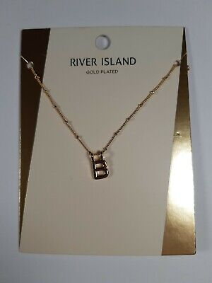 £3.90 • Buy River Island Fashion Pendant Necklace Letter  B . Costume Jewelry New With Tags