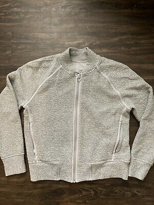 $ CDN46.67 • Buy Lululemon Gray Zip Up Sweater Jacket Size 8 *Fits Like 6*