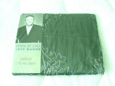 2 Prs Of New And Used Beautiful Jeff Banks Ports Of Call Blue Oxford Pillowcases • 7.80£