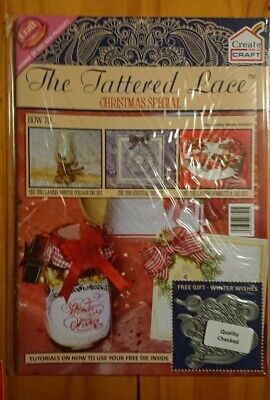 Tattered Lace Magazine  Christmas Special With Winter Wishes Die. * • 6.20£