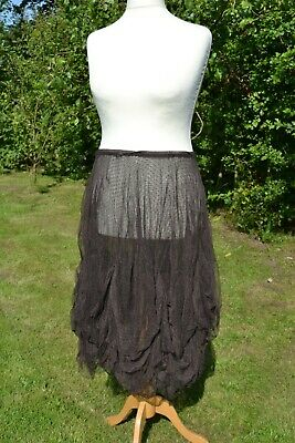 2 X Net Underskirt By MAIS IL EST OU SOLEIL Sz 42 Brown And Grey One With Issues • 0.99£