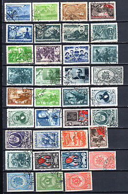 Russia 1943-1944 Ussr Selection Of Used Stamps • 1.99£