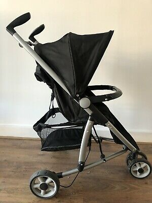 Babystart 3 Wheeler COMPACT STROLLER PUSHCHAIR With Raincover, Easy Foldable • 25£