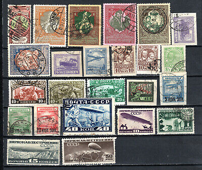 Russia 1905-1930 Ussr Selection Of Used Stamps • 1.99£