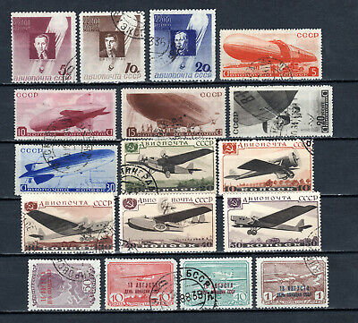 Russia 1934-1939 Ussr Selection Of Used Stamps • 1.99£