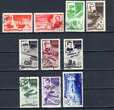 Russia 1935  Rescue Chelyushkin Expedition Set Of Used Stamps • 1.99£