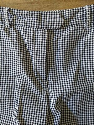 M&S Collection Gingham Retro Vintage Style Rockabilly Straight Trousers Capri 10 • 10£