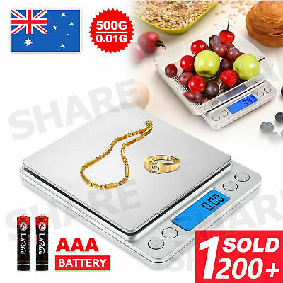 AU12.95 • Buy 0.01G-500G Mini Electronic Digital Pocket Gold Jewellery Weighing Kitchen Scales