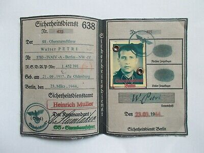 WW2 German Security Officer's Document • 18£