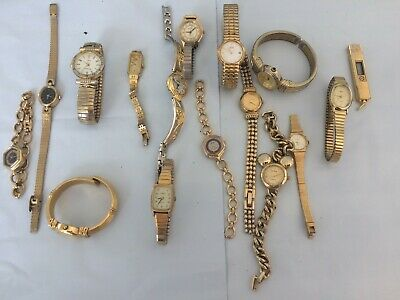 $ CDN12.74 • Buy Vintage Huge Lot Of Gold Color Women's Watches - Seiko/Timex/More