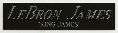 AU11.30 • Buy LEBRON JAMES NAMEPLATE FOR AUTOGRAPHED Signed JERSEY-BASKETBALL-PHOTO-FLOOR-SI