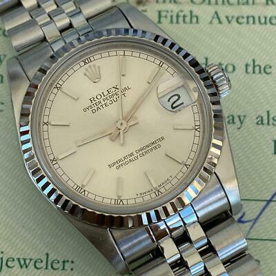 $ CDN2973.27 • Buy Rolex Datejust Mid-size 68274 Vintage Watch 100% Genuine White Gold Bezel Papers