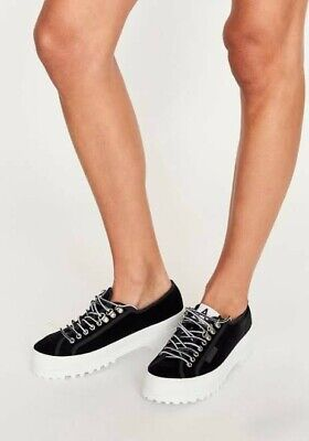 AU75 • Buy New Superga Womens Alexa Chung 2254 Alpina Lea Patent In Black Platform Shoes