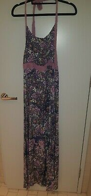 AU35 • Buy Tigerlily Halterneck Floral Maxi Dress Size 10