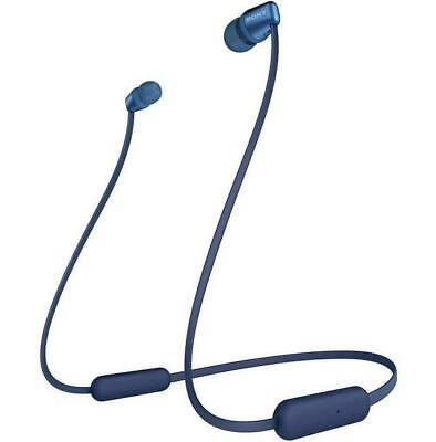 Sony WI-C310 Wireless In-Ear Headphones Bluetooth Neckband Blue With Microphone • 15£
