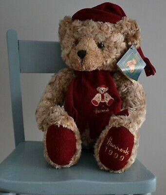 Harrods Christmas Foot Dated Teddy Bear 1999 - With Label - 13  • 17£