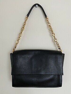 AU50 • Buy Black Leather OROTON Shoulder Evening Handbag