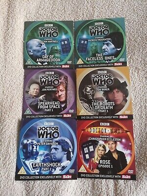 BBC Doctor Who The Sun Newspaper DVD Video Collection BBC WORLDWIDE LTD 2006 • 5£