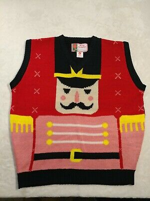 $19.99 • Buy Merry Christmas Tag To: From: Ugly Sweater Vest Nutcracker Size Large NWOT.