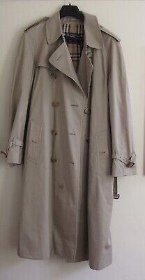 Men's Burberry Double Breasted Trench Coat Size 42 Long • 30£