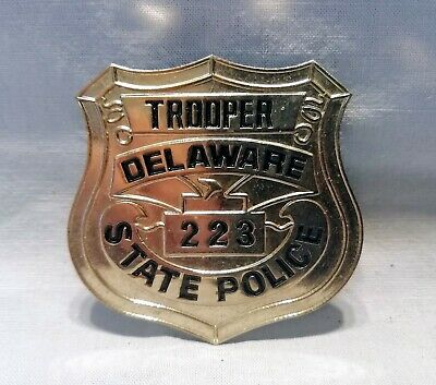 Collectors Usa Police Badge Obsolete Delaware State Police - Trooper's Shield • 29£