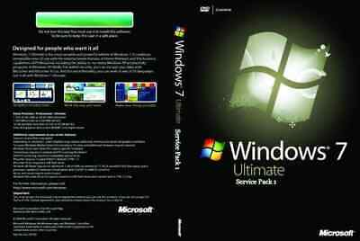 Windows 7 Ultimate 64 Bit Format Dvd Full Installation Disk With PRODUCT KEY. • 21.77£