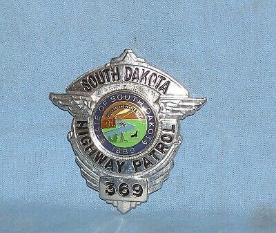 Collector Usa Police Badge Obsolete South Dakota Highway Patrol - Shield • 39£