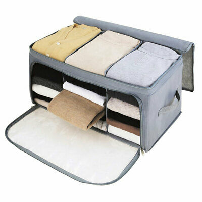 Clothes Bedding Storage Box Zipped Organiser Cube Bag Multi-compartment Durable • 9.71£