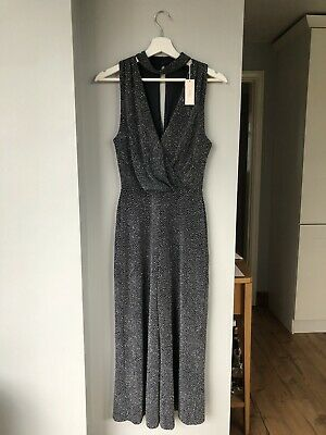 BNWT Women's NEXT Grey And Silver Jumpsuit Size 8 • 5£