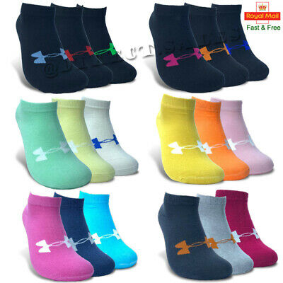 Under Armour Womens Ankle No Show Trainer Socks Cotton Sports GYM Socks 4-7 Lot • 4.49£