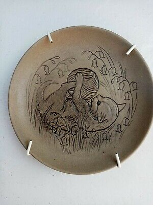 Poole Pottery Stoneware Plate - KITTEN WITH WOOL BALL- Barbara Linley Adams • 4£