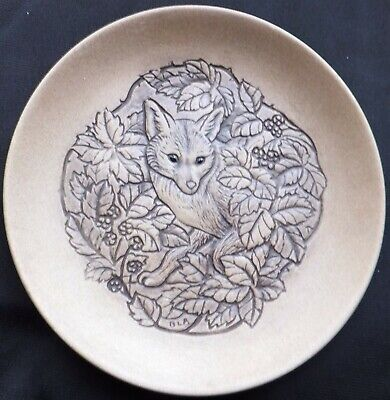 New Forest Fox Poole Stoneware 5  Plate Designed By Barbara Linley Adams • 3£