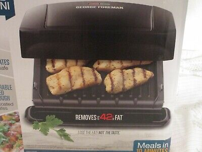 George Foreman 4 Serving Removable Plate Electric Grill And Panini Press • 11.48£