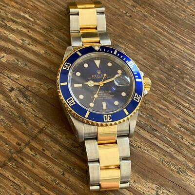 $ CDN8010.06 • Buy Rolex Submariner 16613 Two-tone Watch 100% Genuine P Serial Blue Dial