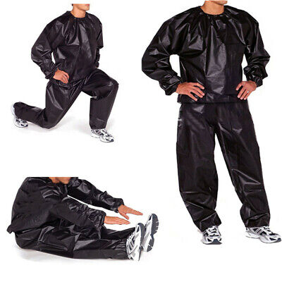 AU17.29 • Buy Sauna Suit Sweat Workout Body Shape Weight Loss Gym Fitness Tracksuit Exercise
