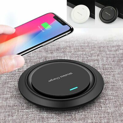 AU15.99 • Buy QI Fast Charge Wireless Charger Pad For Samsung S6/S7/S8/S9 Plus Iphone X 8 7 6