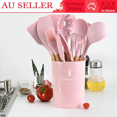 AU36.42 • Buy 12pcs Silicone Kitchen Cooking Utensil Set Non-stick Cookware Spatula Spoon Tool