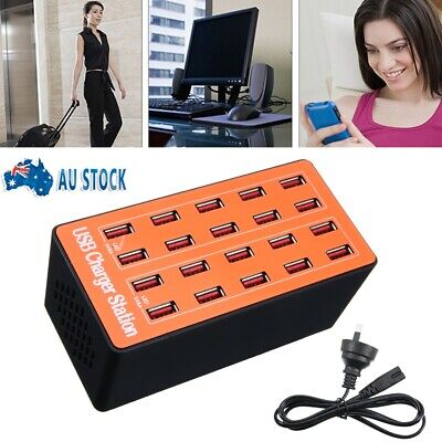 AU27.50 • Buy New 20 Port USB Multifunction Fast Charging Station Dock Multi Phone Charger Hub