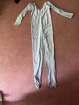 Dance Costumes  Silver Grey Catsuit Size 2 Excellent.condition • 3.50£