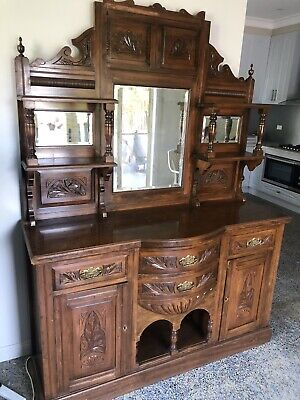 AU850 • Buy Antique Sideboard / Dressing Mirror