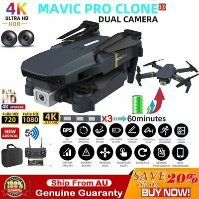 AU77.99 • Buy 4K 1080P RC Drone X Pro With HD Camera Wifi FPV Foldable Arm Selfie Quadcopter