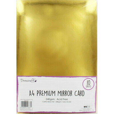 Gold Mirror A4 Card • 3.99£