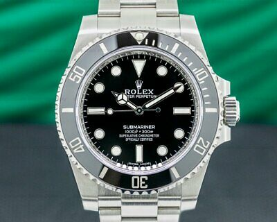 $ CDN20778.54 • Buy Rolex 114060 Submariner 114060 No Date Ceramic Bezel SS 2019 WITH BOX + PAPERS!