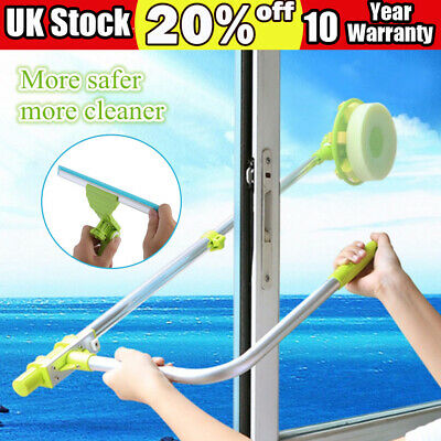 Window Brush Telescopic High Rise Glass Cleaner Windows Washing Cleaning Tools • 13.91£