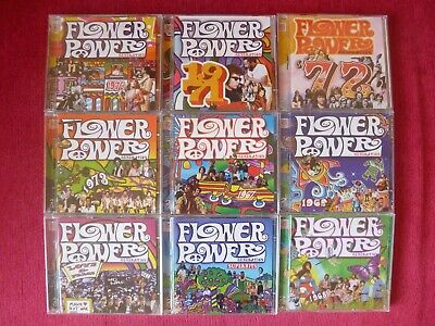 Time Life -  RARE, Flower Power 9 Double Cd Set, Like New! • 270£
