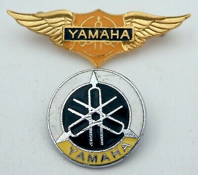 YAMAHA MOTORCYCLES BADGES 2 X Enamel Lapel Badges * Biker * Bikers * • 3.95£