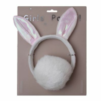 £5.49 • Buy Bunny Rabbit Ears Girls Fancy Dress Hen Party Soft Furry Hair Band And Tail Set
