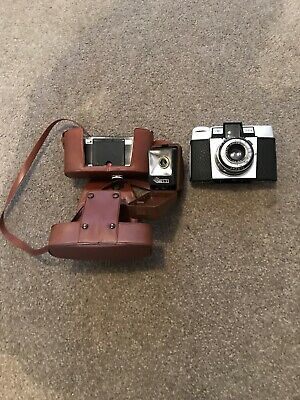 Old Vintage Camera In Brown Case Pronto Isoly ISI Good Condition • 10£