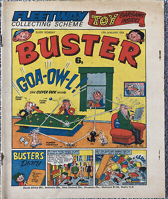 BUSTER Comic - 17th January 1976 - IPC. Pete's Pocket Army Faceache Chalky • 1.49£